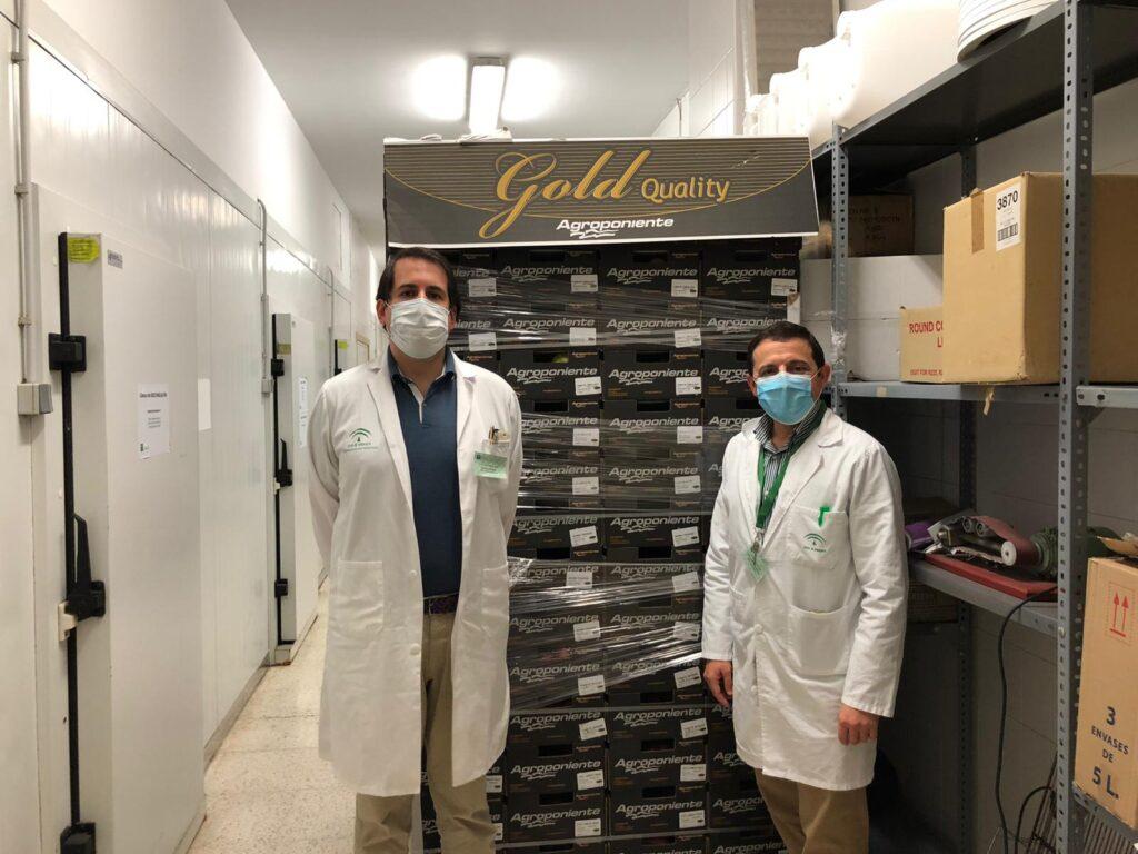 Donamos más de 2.000 kilos de hortalizas al Complejo Hospitalario Torrecárdenas y a los Hospitales del Poniente (Ejido) y La Inmaculada (Huércal Overa)