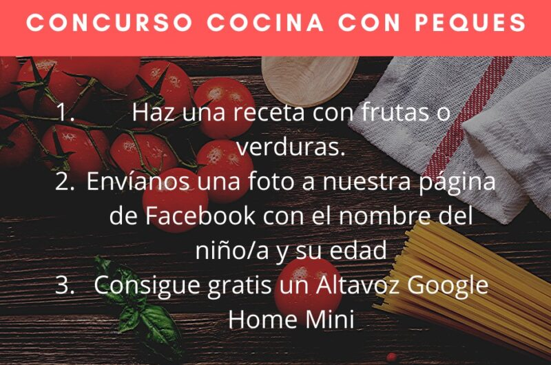 Lanzamos un concurso de cocina para niños a través de nuestras redes sociales