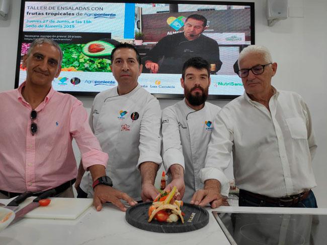 Éxito del 'Taller de Ensaladas Tropicales' que hemos desarrollado junto 'Almería 2019 Capitalidad Española de la Gastronomía'