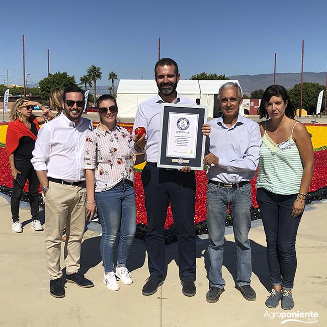 Almería consigue el Récord Guinness al corazón de frutas y hortalizas más grande del mundo