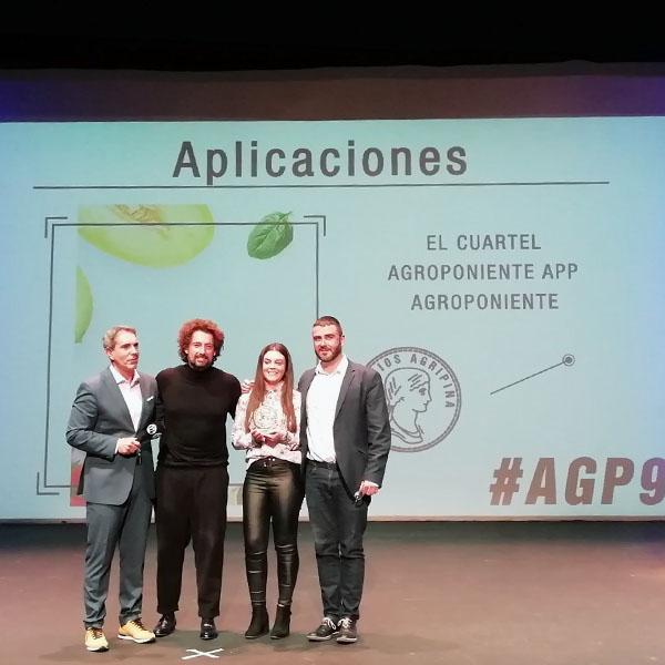 La App de Grupo Agroponiente para agricultores recibe el Premio Agripina de la publicidad