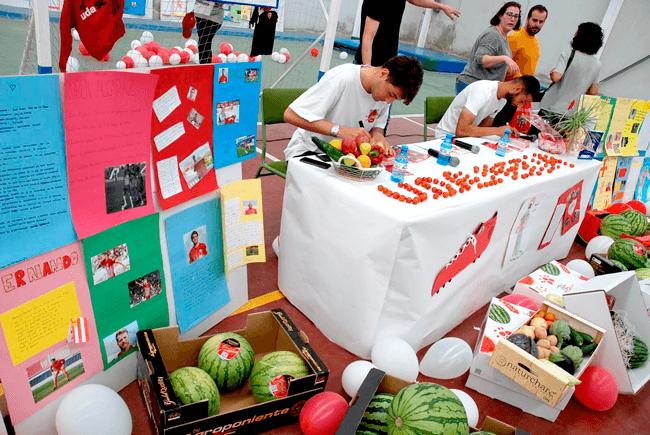 Colaboramos, junto con la UD Almería, en la promoción de hábitos saludables del CEIP Concordia